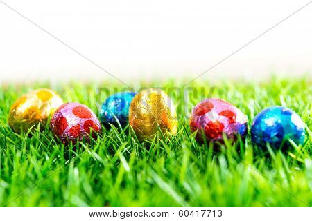 Easter eggs Chocolate-colorful easter eggs for your easter design