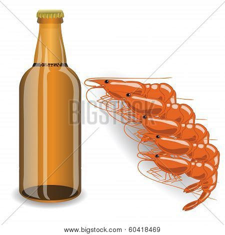 Bootle Of Beer And Shrimp