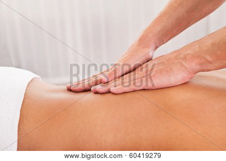 Client Relaxing In Massage Parlor