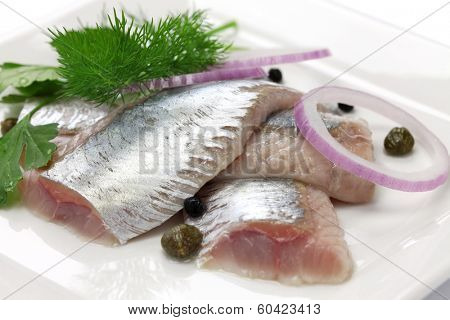pickled herring, cold appetizer