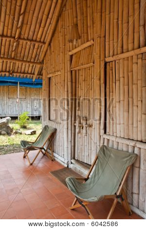 Bamboo Hut At A Jungle Resort