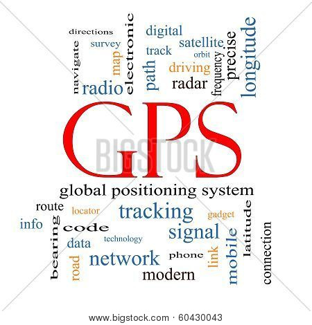 Gps Word Cloud Concept