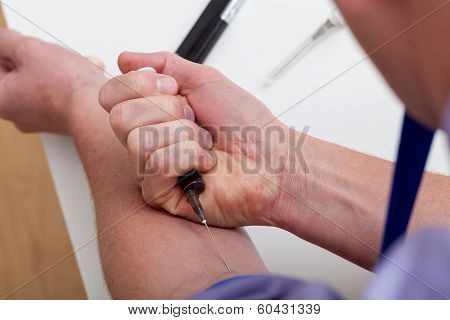 Injection With Morphine