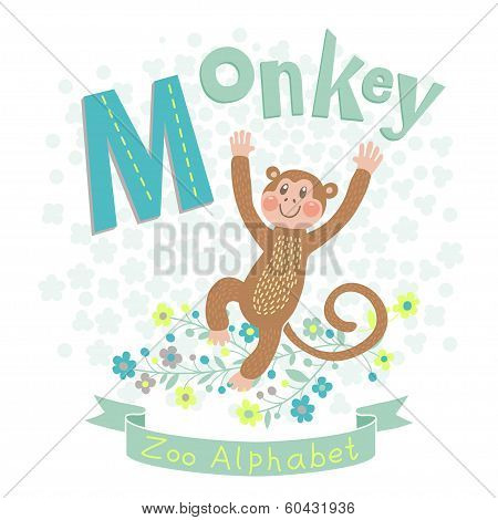 Letter M - Monkey