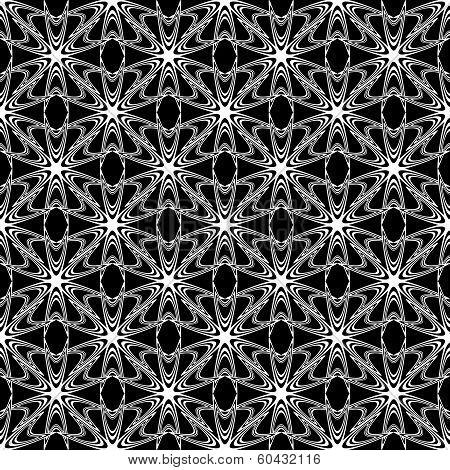 Design Seamless Monochrome Decorative Pattern. Abstract Trellis Diagonal Background