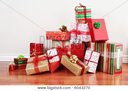 Gift Pile On A Floor