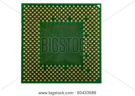 Macro Of Computer Processor Isolated
