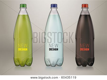 1 L transparent plastic bottle for new design. Sketch style