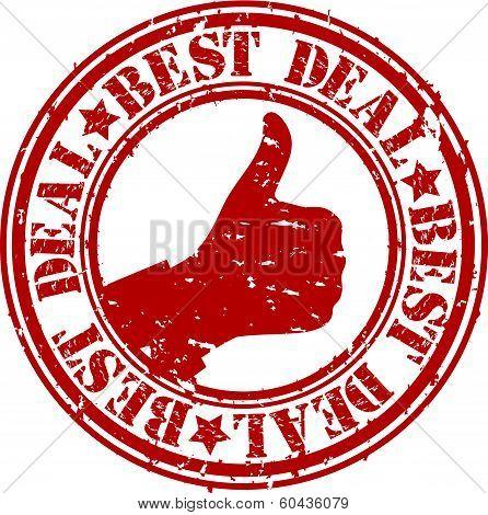 Grunge best deal rubber stamp, vector illustration