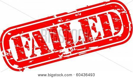 Grunge failed rubber stamp, vector illustration