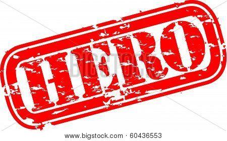 Grunge hero rubber stamp, vector illustration