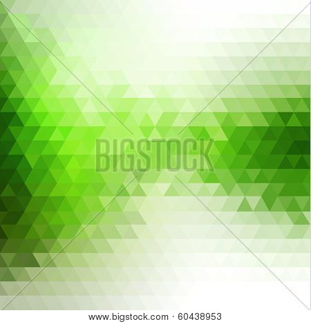 Abstract mosaic flowing triangles background