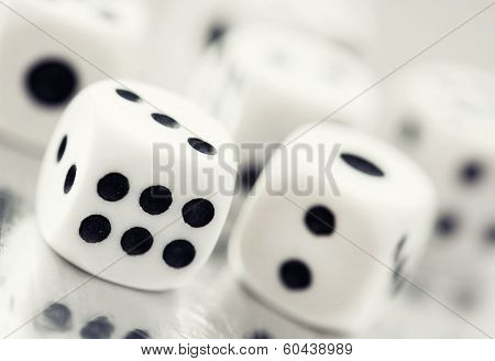 Close Up Of A Casino Dice