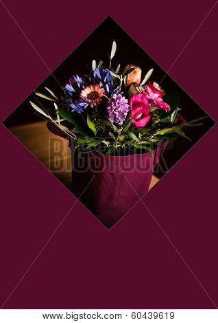 Card Concept Shopping Bag With Flowers