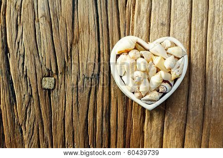 Shape of Hearth With Seashells