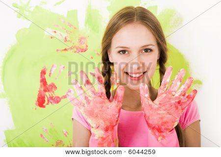 Girl In Gloves