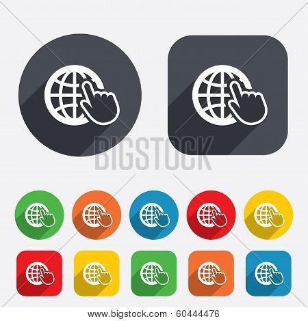 Internet sign icon. World wide web symbol.
