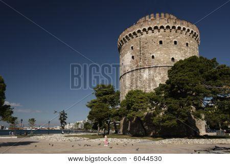 White tower the ex-ottoman jail Thessaloniki Greece