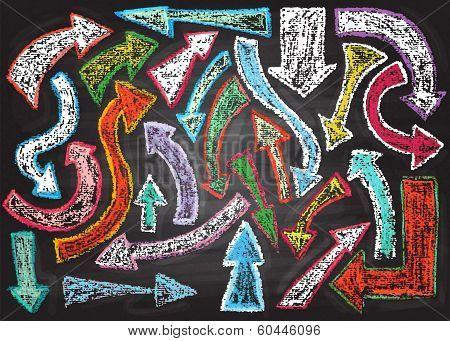 Chalkboard design elements.  Arrows.
