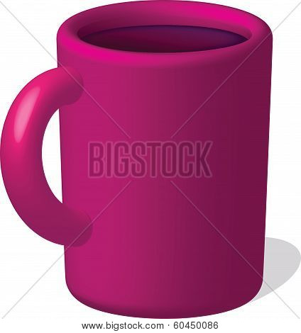 Red Mug With Drink