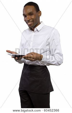Waiter in White Background