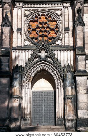 Gothic Entrance Of Karl Scheibler's Chapel in Lodz