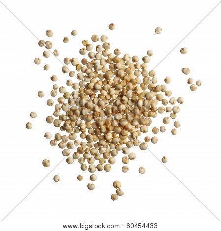 Quinoa Seeds Isolated On White Background