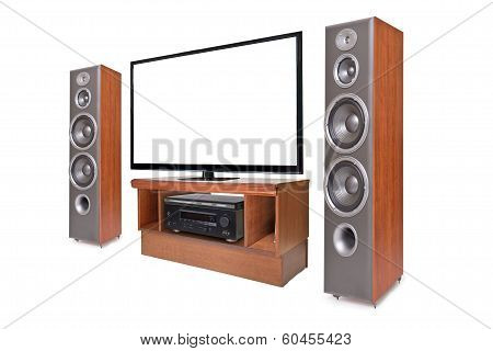 Side Shot Of Home Cinema System
