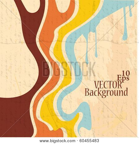 Retro Abstract Strips Background - Vector Illustration
