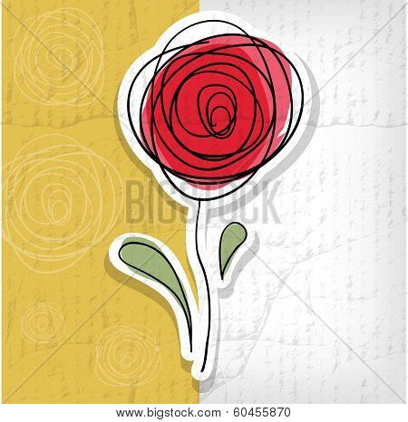 Floral Background With Abstract Roses - Vector Illustration
