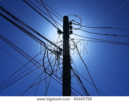 Telephone utility pole