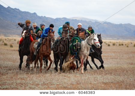 A Traditional Nomad Horse Game