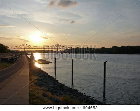 Sunset On The Mississippi River