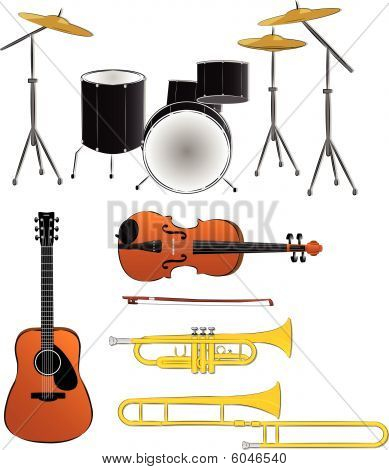 Musical instruments illustratons