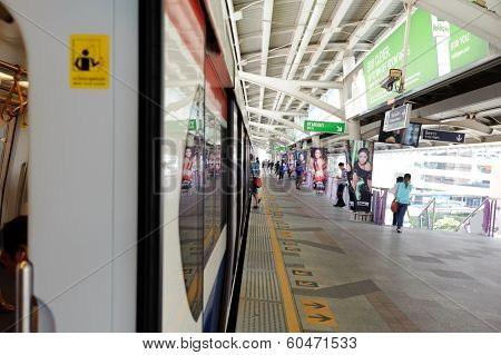 BANGKOK, THAILAND - OCT 27,2011:  subway station. Bangkok is the capital and the most populous city of Thailand. It is known in Thai as Krung Thep Maha Nakhon