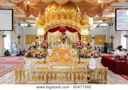 BANGKOK, THAILAND - OCT 26,2011: Sikh temple interior. Bangkok is the capital and the most populous city of Thailand. It is known in Thai as Krung Thep Maha Nakhon