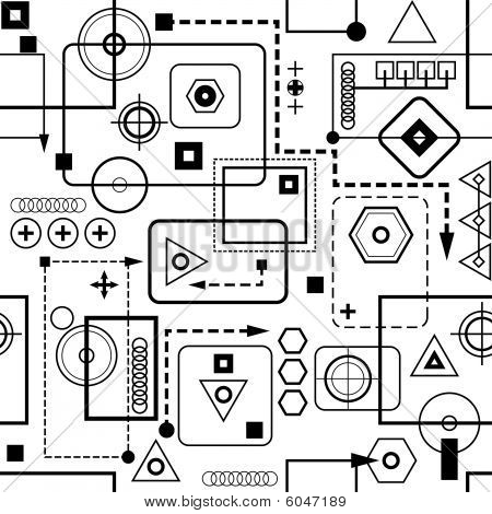 Mechanical seamless pattern 2.0