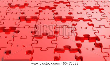 3D blank red puzzle background