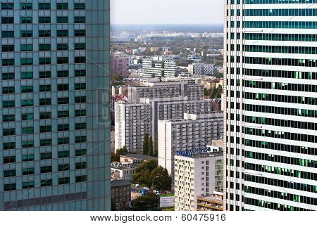 Office And Residential Skyscrapers of Warsaw City