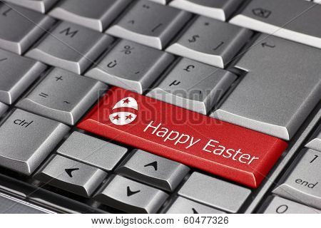 Computer Key - Happy Easter With Egg