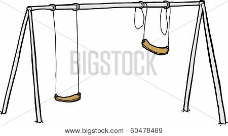 Vandalized Swing Set