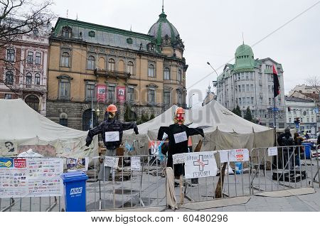 Maidan In Lvov