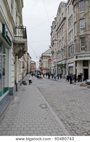 The Central Street In Lvov