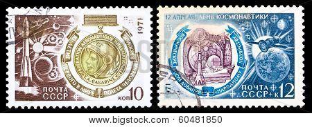Ussr Stamps, Cosmonautics Day