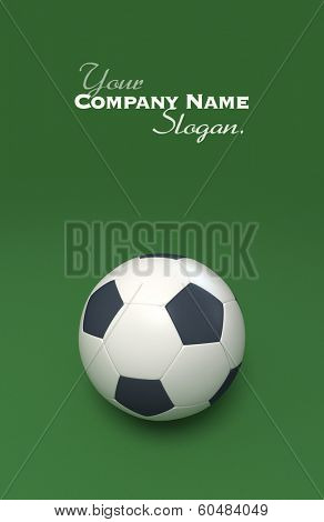 3D rendering of a soccer ball against a green background