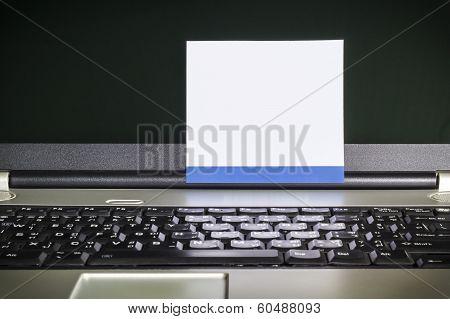 Blank Notepad On Latop Screen
