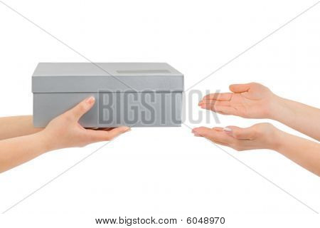 Hands Giving Box