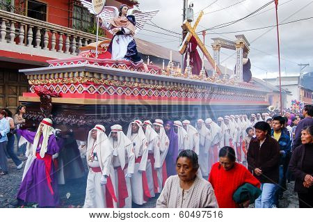 Holy Week Religious Procession In Antigua, Guatemala