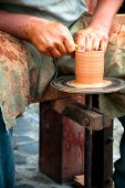 Potters Wheel, Wedging Clay
