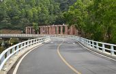 pic of twisty  - Asphalt twisty highway bridge - JPG